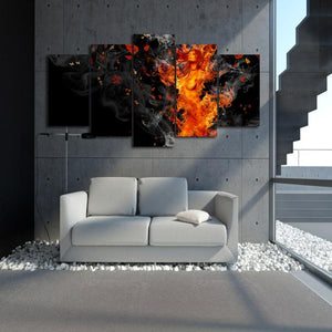 Canvas - Fire Fury 5 Piece Canvas