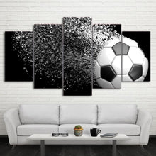 Canvas - Football Disintegration 5 Piece Canvas
