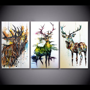 Canvas - Graffiti Elk Canvas 3 Pieces Canvas