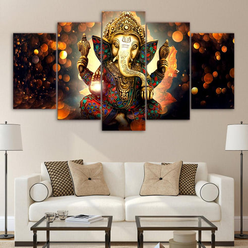 Canvas - Hindu Ganesha 5 Pieces Canvas