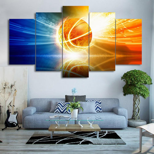 Canvas - Shooting Halo Basketball 5 Pieces Canvas