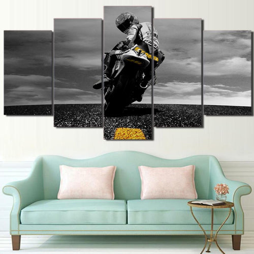 Canvas - Speed Motorcycle 5 Piece Canvas