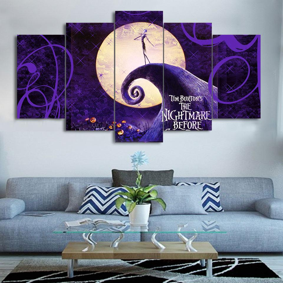 Canvas - The Nightmare Before Christmas 5 Pieces Canvas