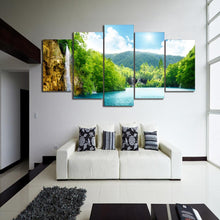 Canvas - Waterfall Lake 5 Pieces Canvas