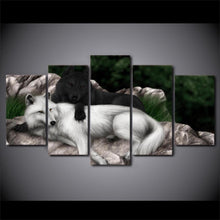 Canvas - White Black Wolf Unity 5 Piece Canvas