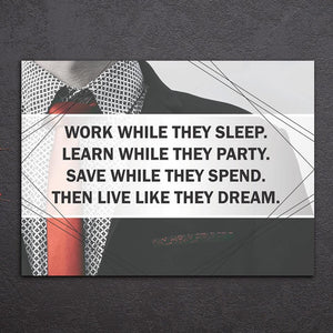 Canvas - Work While They Sleep 1 Piece Canvas