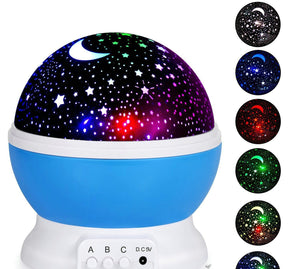 "Lights - LED Rotating ""Moon And Stars"" Projector"