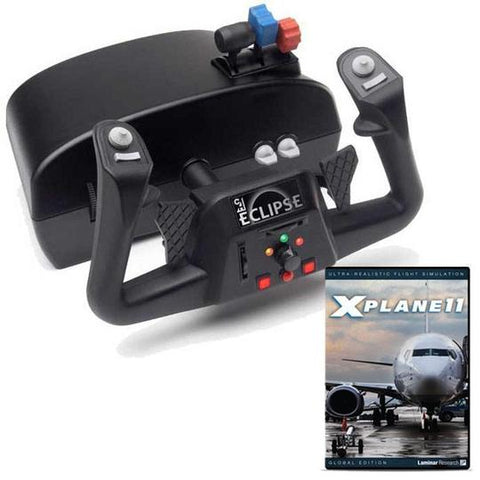 CH Products Eclipse Yoke and X-Plane 11 DVD Bundle