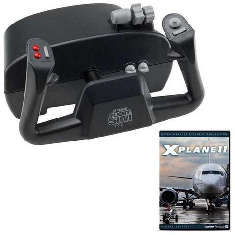 CH Products Flight Sim Yoke and X-Plane 11 DVD Bundle