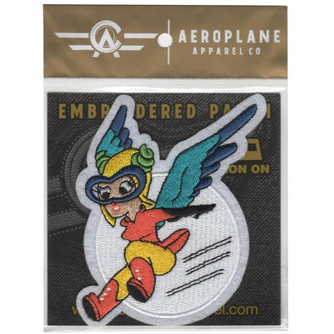 Fifinella (Fifi) Women Airforce Service Pilots Embroidered Patch (Iron On Application)