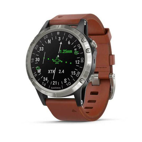 Garmin D2 Delta Aviator Watch with Brown Leather Band (47MM Case)