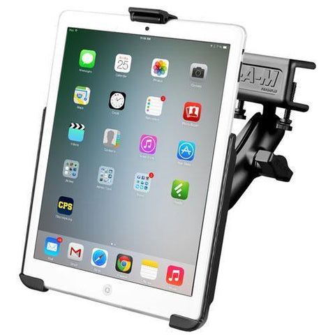 RAM iPad Mini 1-3 Cradle with Glare Shield Clamp Mount Kit