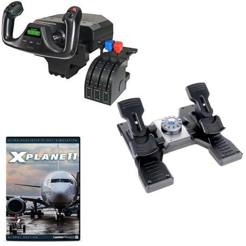 Logitech Saitek Basic Flight Simulation w/X-Plane 11 DVD Bundle