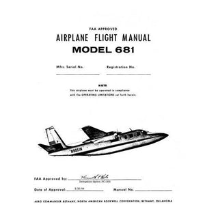 Aero Commander - Aero Commander 681, 681B Hawk 1970-72 Flight Manual (AC681,B-F-C)