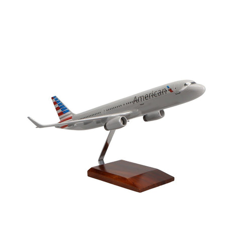 Aircraft Models - Airbus A321-200 American Airlines Limited Edition Large Mahogany Model