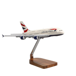 Aircraft Models - Airbus A380 British Airways Limited Edition Large Mahogany Model