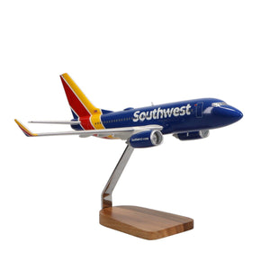 Aircraft Models - Boeing 737-700 Southwest Airlines Limited Edition Large Mahogany Model
