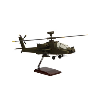 Aircraft Models - Boeing AH-64D Apache Longbow Limited Edition Large Mahogany Model