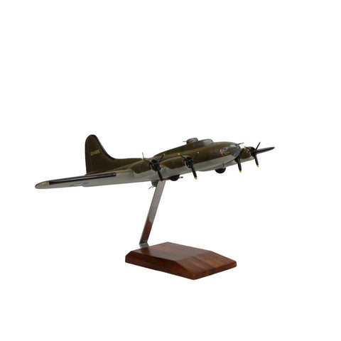"""Aircraft Models - Boeing B-17F Flying Fortress """"Memphis Belle"""" Limited Edition Large Mahogany Model"""