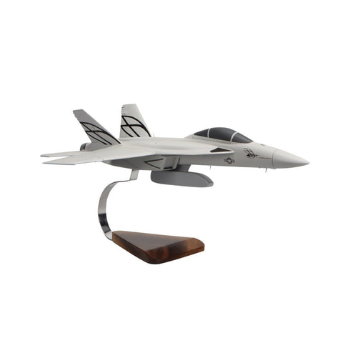 Aircraft Models - Boeing F/A-18E Super Hornet W/External Weapons Pod Limited Edition Large Mahogany Model