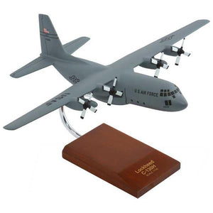 Aircraft Models - C-130H Hercules (Gray) Mahogany Model