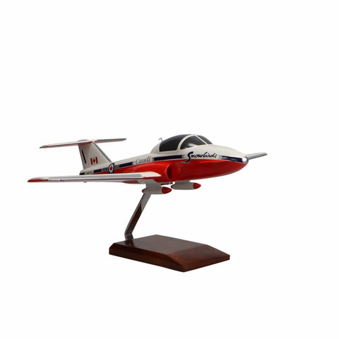 Aircraft Models - Canadair CT-114 Tutor Canadian Forces Snowbirds Limited Edition Large Mahogany Model