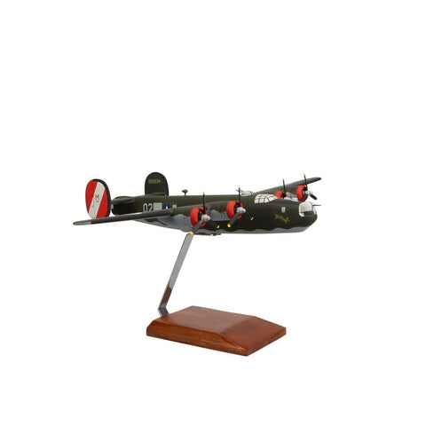 """Aircraft Models - Consolidated B-24J Liberator """"Witchcraft"""" Limited Edition Large Mahogany Model"""