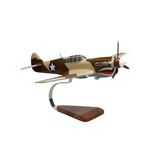 Aircraft Models - Curtiss P-40 Warhawk Limited Edition Large Mahogany Model