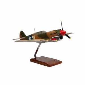 Aircraft Models - Curtiss P-40E Warhawk Limited Edition Large Mahogany Model