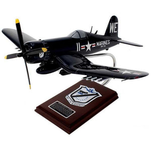 "Aircraft Models - F4U-4 ""Black Sheep Squadron"" USMC Mahogany Model"