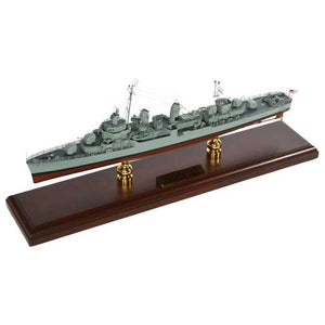 Aircraft Models - Fletcher Class Destroyer Mahogany Model
