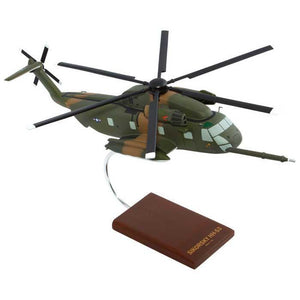Aircraft Models - HH-53B Super Jolly Green Giant Mahogany Model