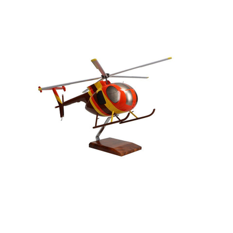 Aircraft Models - Hughes Helicopters 500D Magnum PI Limited Edition Large Mahogany Model