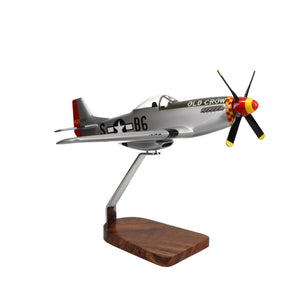 Aircraft Models - Northrop Grumman P-51 Mustang Clear Canopy Limited Edition Large Mahogany Model