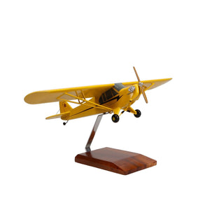 Aircraft Models - Piper J3 Cub Limited Edition Large Mahogany Model