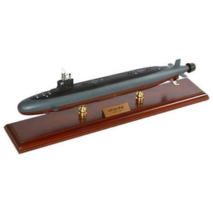 Aircraft Models - Seawolf Class Submarine (L) Mahogany Model