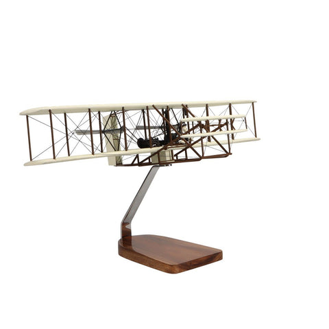 """Aircraft Models - Wright Flyer """"Orville And Wilbur Wright"""" Large Mahogany Model"""