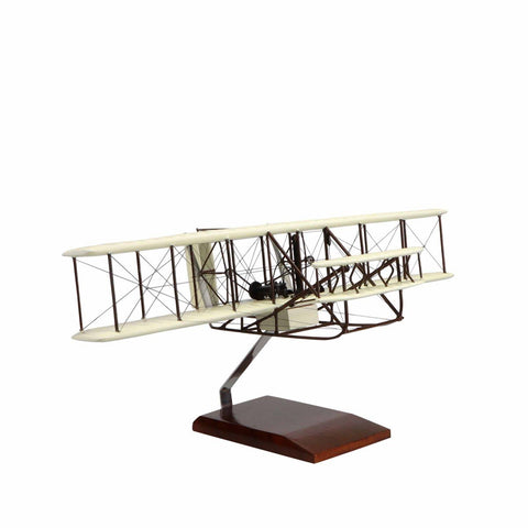 """Aircraft Models - Wright Flyer """"Orville And Wilbur Wright"""" Limited Edition Large Mahogany Model"""