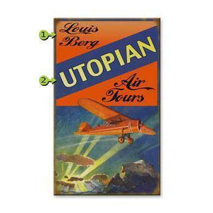 Artwork & Prints - Air Tours Personalized Wood Sign 18x30