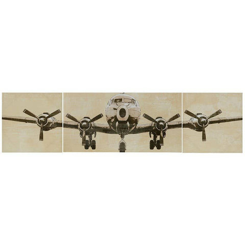 Artwork & Prints - Flight Time Airplane Wall Decor Canvas Art (3 Canvases)
