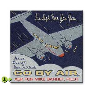Artwork & Prints - Go By Air Personalized Wood Sign 28x28