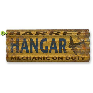 Artwork & Prints - Hangar Mechanic On Duty Personalized Corrugated Sign 17x44