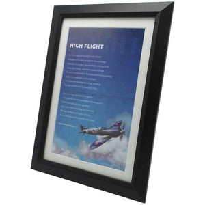 "Artwork & Prints - High Flight Poem 9"" X 13"" Black Framed Desktop Print"