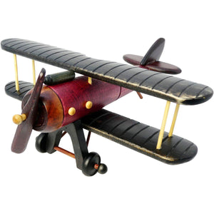 Artwork & Prints - Pilot Toys Medium Wood Biplane
