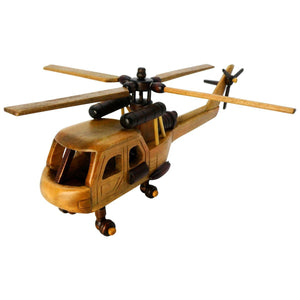 Artwork & Prints - Pilot Toys Medium Wood Helicopter
