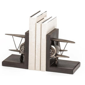 Artwork & Prints - Vintage Biplane Bookends