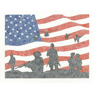"Artwork & Prints - Viz Art Ink American Heroes 11"" X 14"" Print"