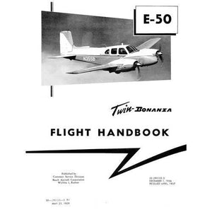 Beech Bonanza - Beech E-50 ,Revised 1959 Flight Handbook (part# 50-590103-3)