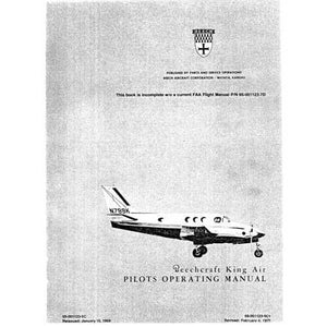 Beech King Air - Beech King Air 90 Series Flight Manual (part# 65-01123-7D)