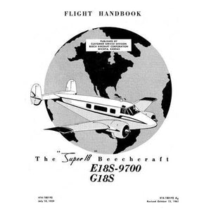 Beech Model 18 - Beech E18S-9700,G18S Super18 Flight Handbook (part# 414-180192)